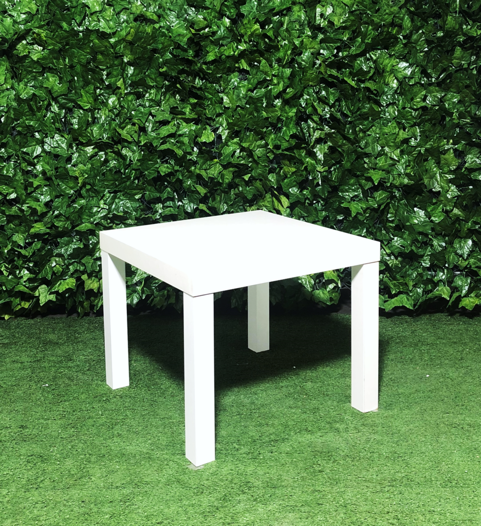 square-wooden-white-coffee-side-table
