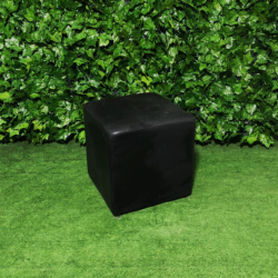 Square-black-leather-ottoman-seating