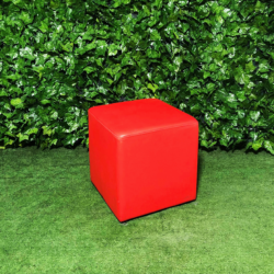 Square-red-leather-ottoman-seating