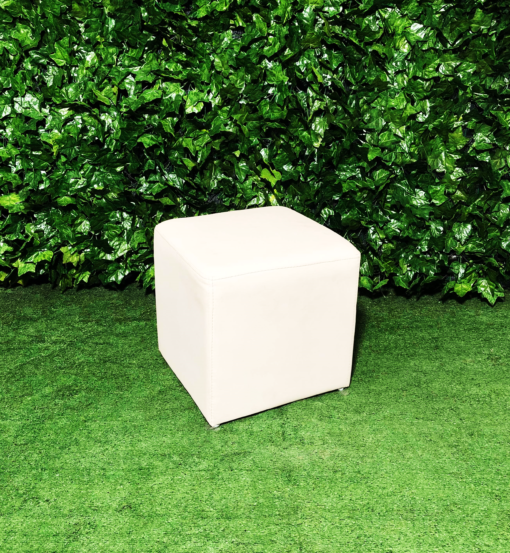 Square-leather-white-ottoman-seating