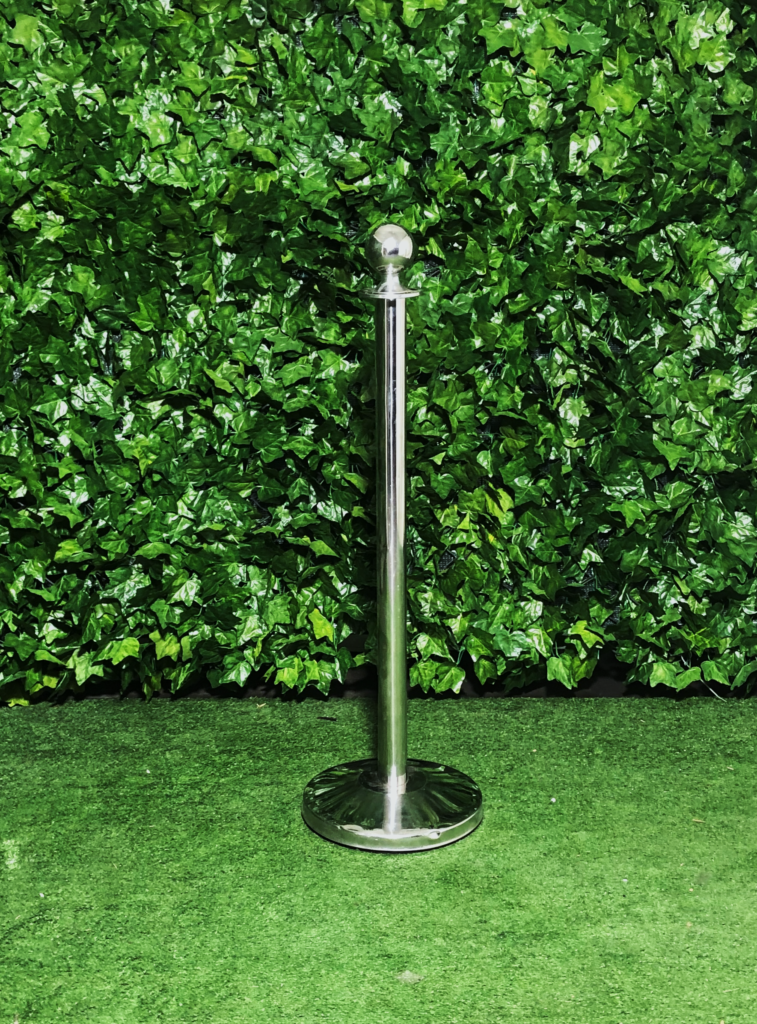 stainless-steel-bollard-sphere-silver-barrier-with-rope
