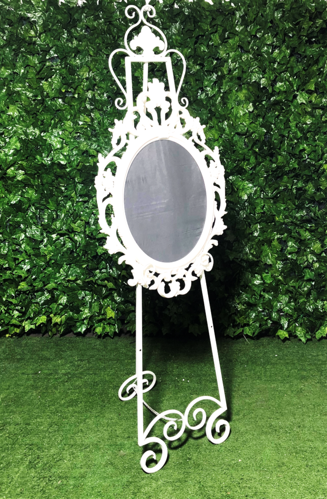 white-wrought-iron-a-frame-easel-detailed-wedding-seating-chart-entrance-display-sign