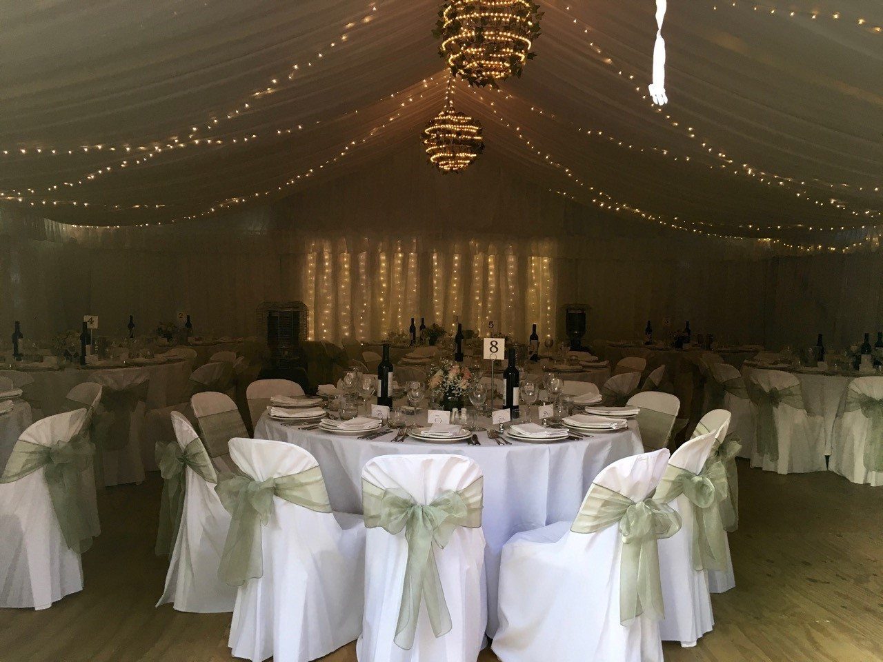 Fitted bistro cover party hire adelaide atlas event party hire natural ply flooring in 10mx9m pavilion junglespirit Images