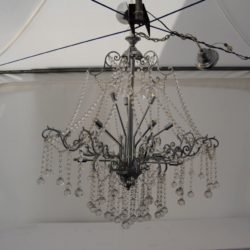 10 arm chandelier wedding hire