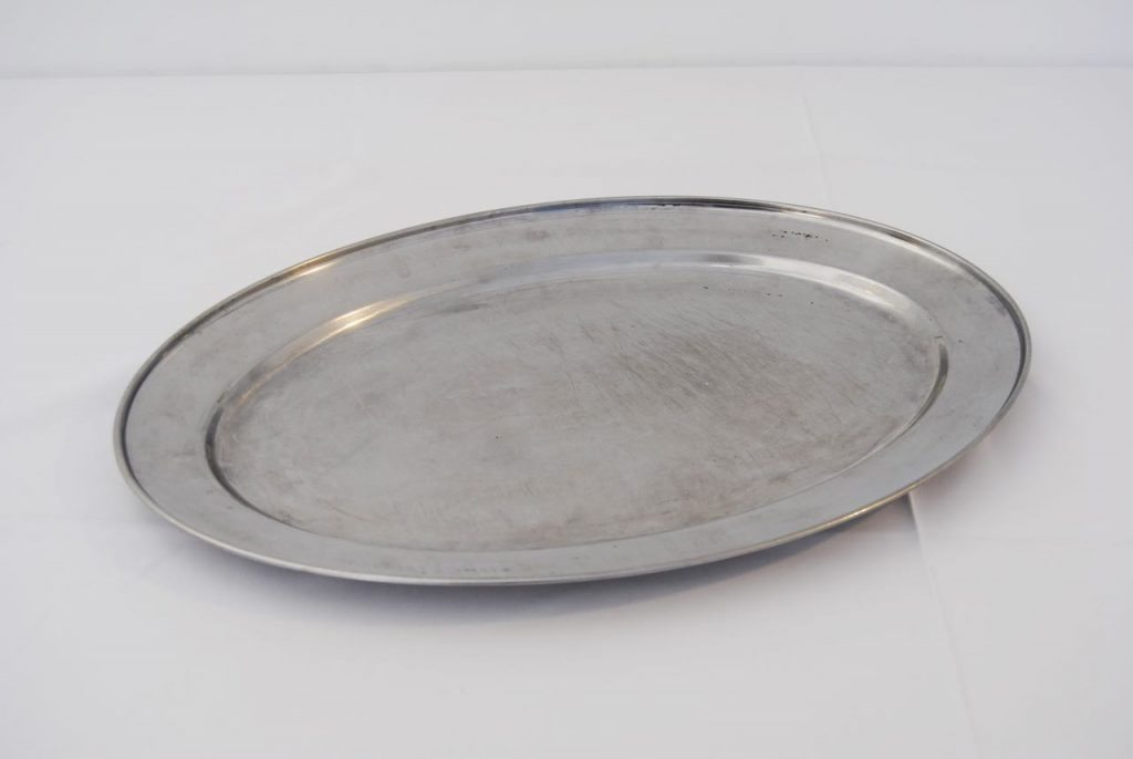 stainless steel serving platter hire