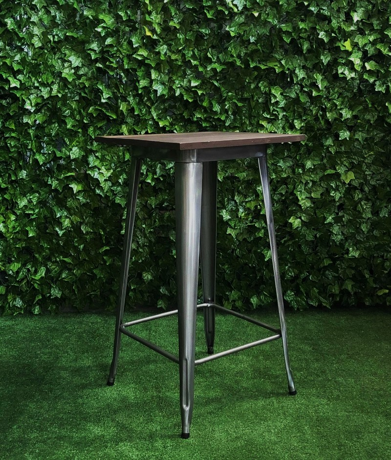 gunmetal-grey-silver-square-wooden-top-tolix-bar-table