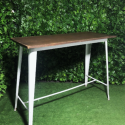 Rectangular-white-metal-stained-wooden-top-tall-bar-table-tolix