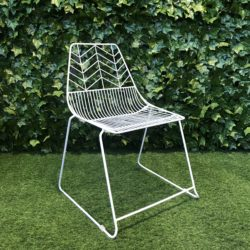 Wire Chair - White - Metal