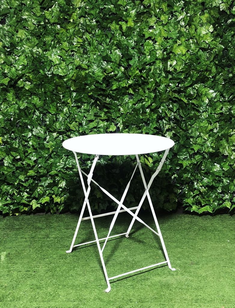 White-metal-botanical-round-cafe-table