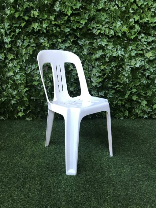 white-high-gloss-plastic-bistro-chair-with-cut-outs-in-the-back-of-the-seat
