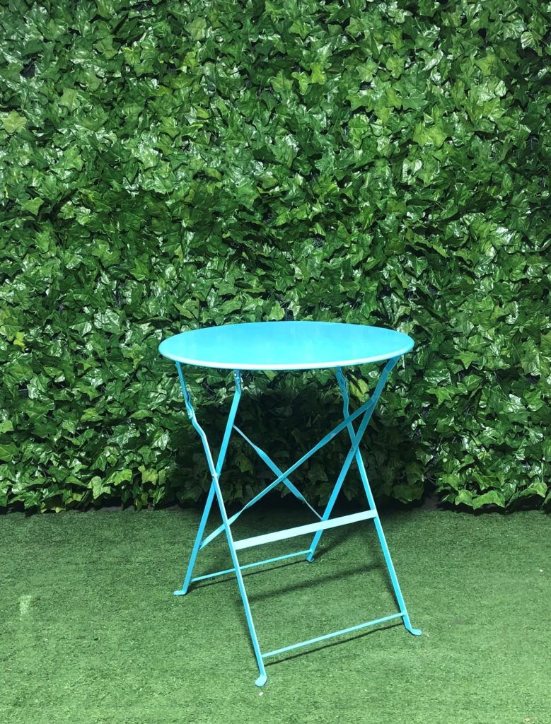 Blue-metal-folding-botanical-cafe-table