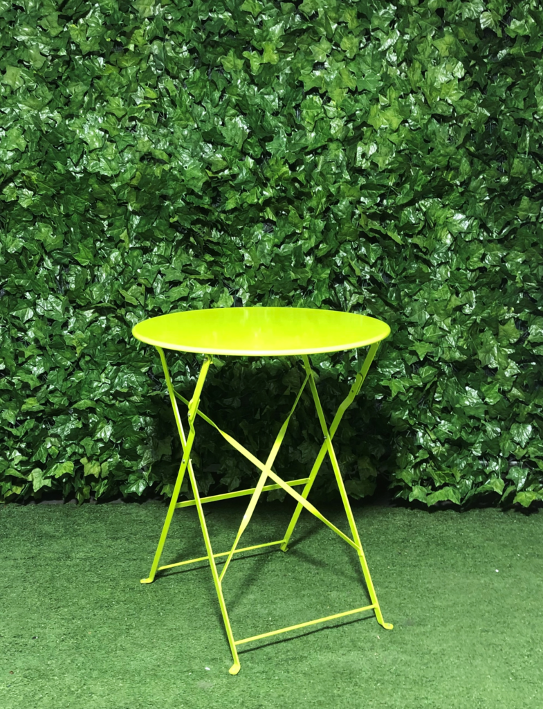 Green-botanical-metal-folding-cafe-table