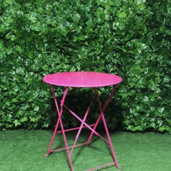 Pink-metal-botanical-cafe-table-round