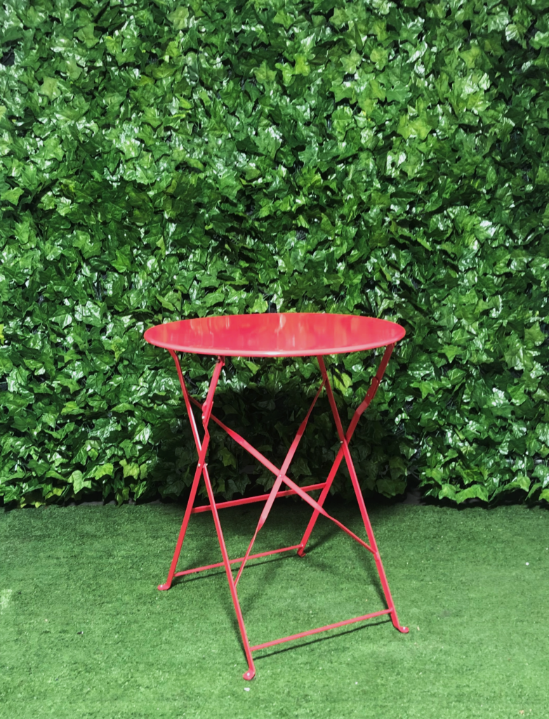 Red-metal-botanical-round-cafe-table