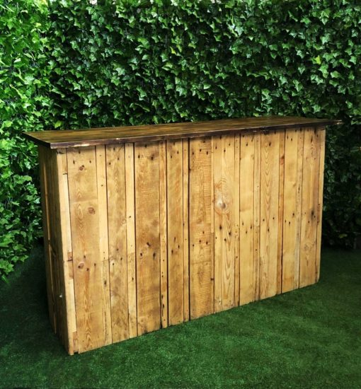 wooden-pallet-long-bar-with-dark-stained-timber-top-for-serving-drinks-at-your-event