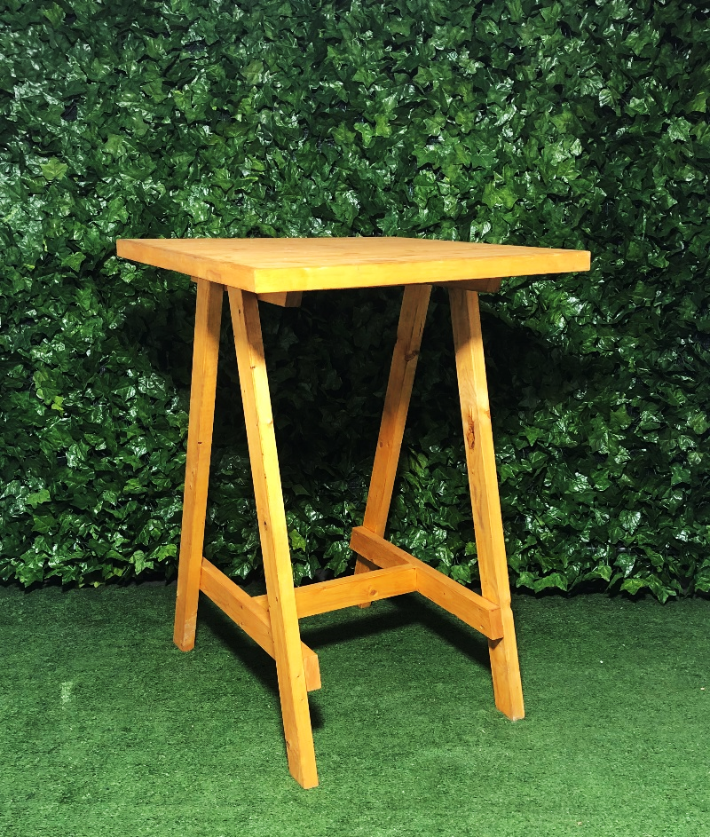 stained-timber-square-a-frame-wooden-bar-table