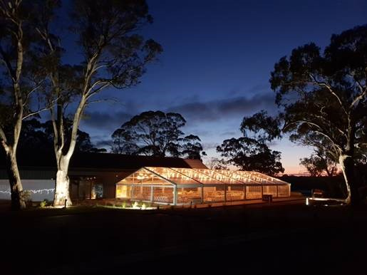 15-meter-by-30-meter-clear-pavilion-lit-up-at-lot-100-in-Adelaide-available-for-hire