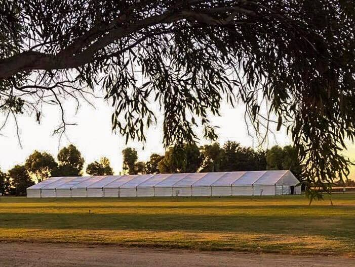 20-meter-by-70-meter-solid-white-vinyl-pavilion-at-lucindale-field-days