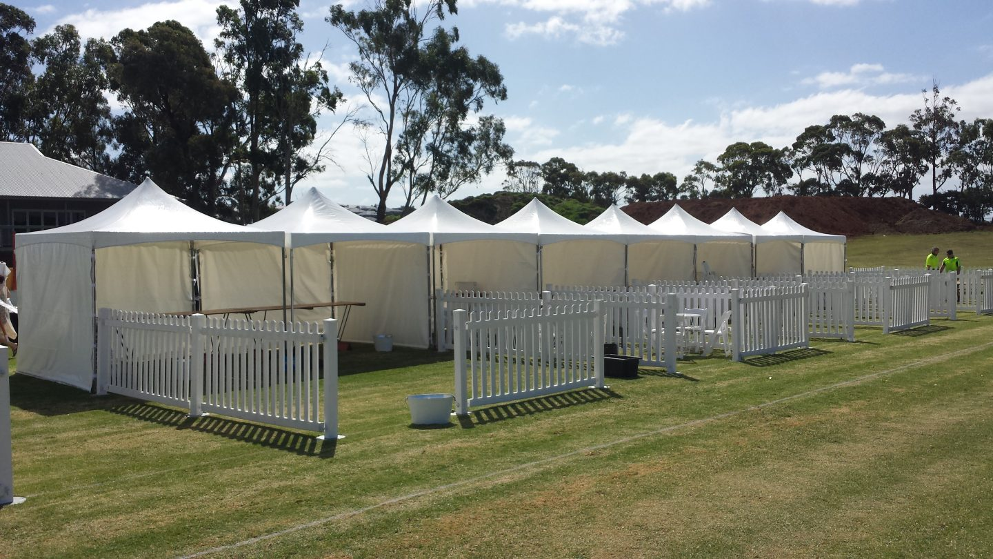 hire-peak-top-marquees-lined-up-in-a-row-in-Adelaide