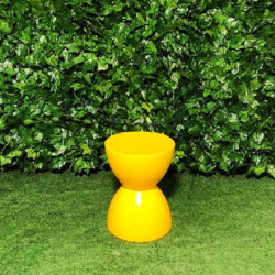 Hour-glass-hard-plastic-stool-yellow