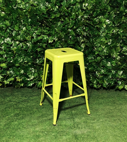 Tall-Metal-Square-Tolix-Stool-Green