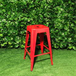 Tall-Metal-Square-Red-Tolix-Stool-66cm