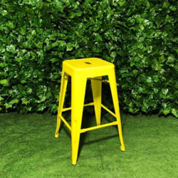Tall-Metal-Square-Tolix-Stool-Yellow-66cm