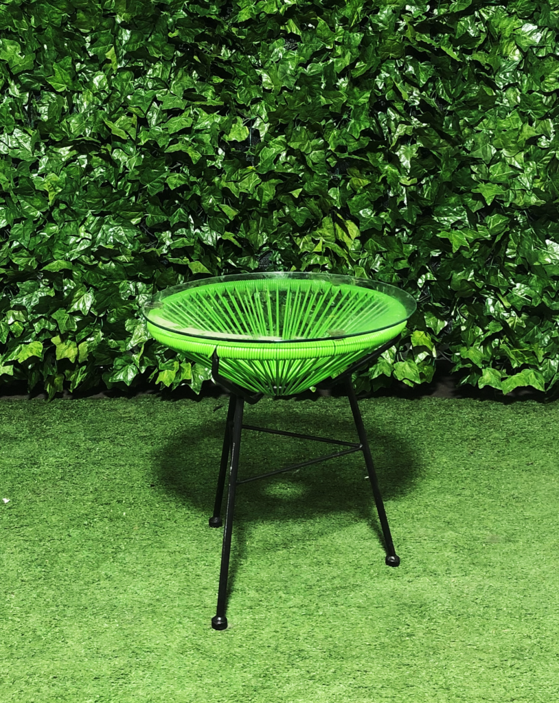 Alcapulco-wire-plastic-glass-top-metal-side-coffee-table-green