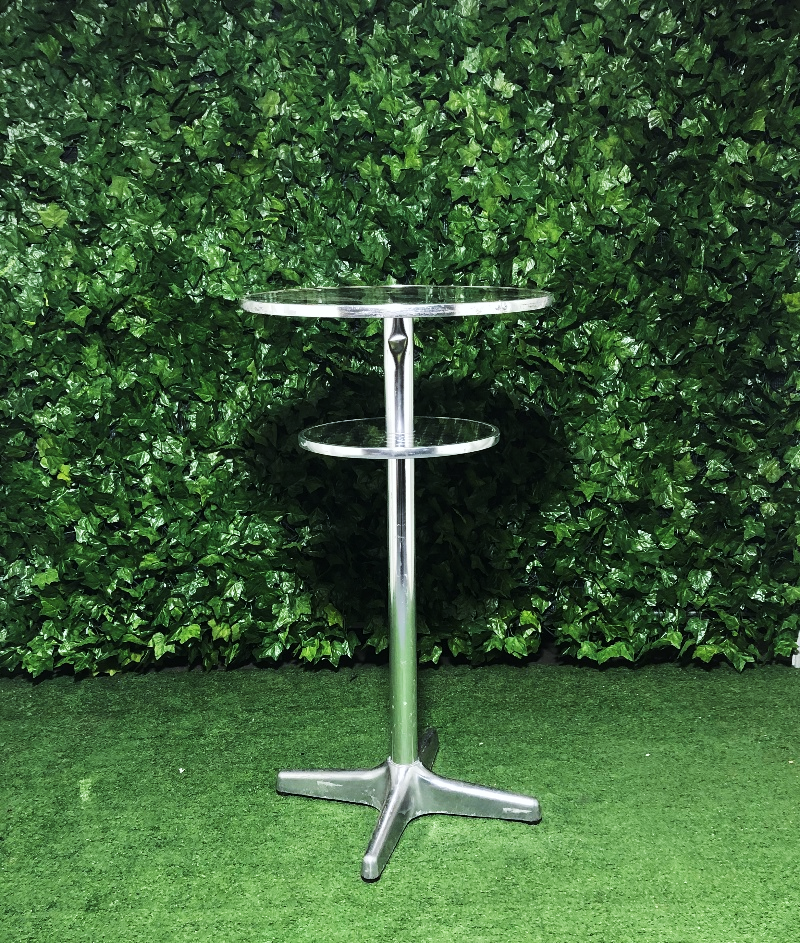 aluminium-two-tiered-round-circle-tall-high-bar-table