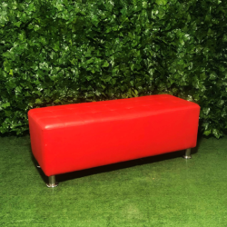 Bench-rectangular-leather-red-ottoman-seating