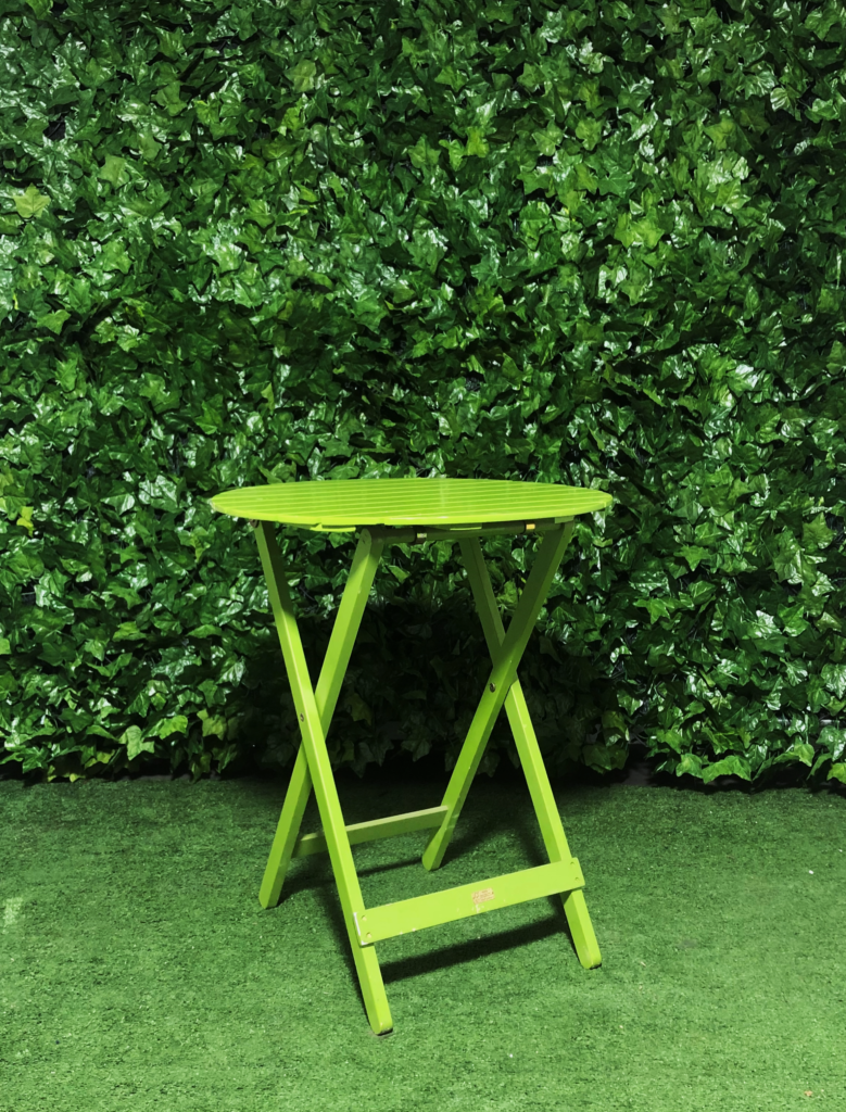 round-green-timber-outdoor-wooden-slatted-a-frame-cafe-table