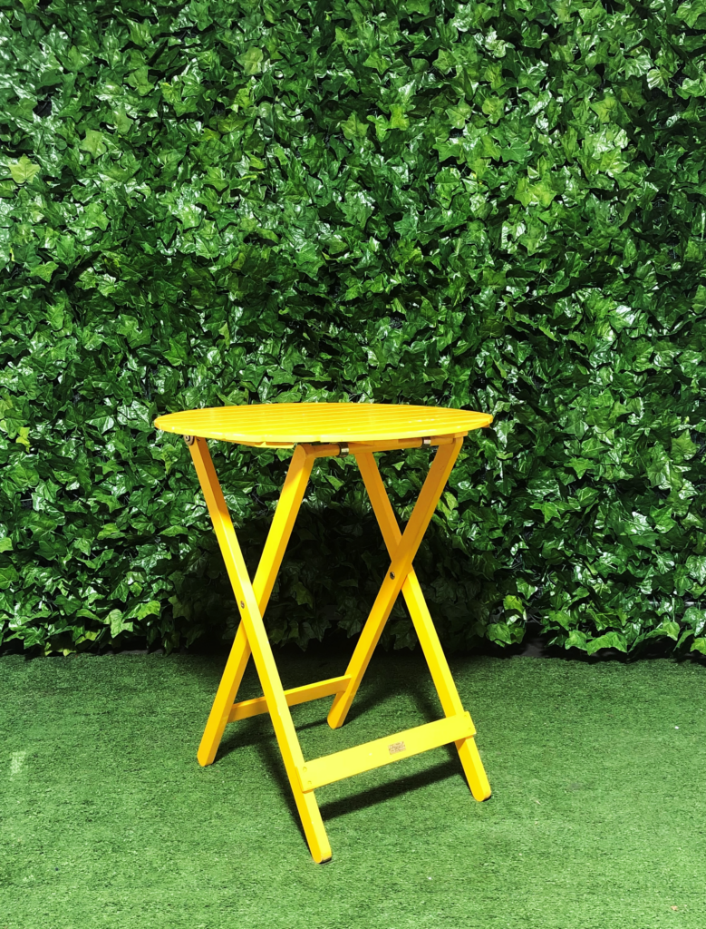round-yellow-timber-slatted-wooden-a-frame-folding-outdoor-cafe-table