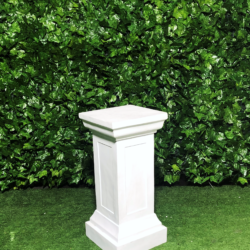 white-detailed-wedding-pedestal-wooden-square-top-painted