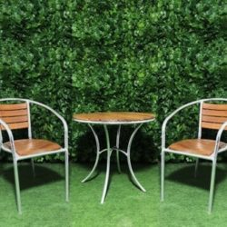 wooden-slatted-aluminium-cafe-table-two-chairs-setting-dining-outdoor