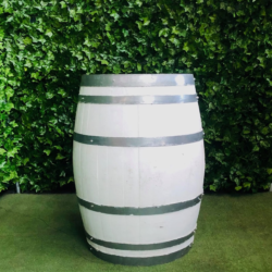 white-painted-wine-barrel-bar-table-round-wooden-circle-bench-aluminium