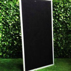 Freestanding-display-screen-walling-fencing-barrier-exhibition-black-screening-with-legs