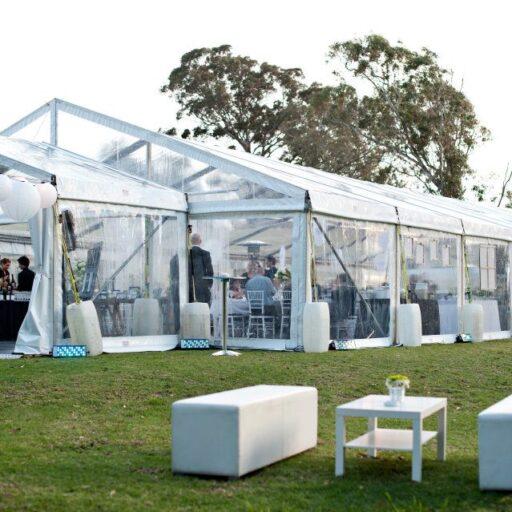 10m-x-24m-Clear-Pavilion-with-6m-x-3m-Clear-pavilion-Entrance-with-white-ottomans