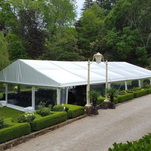 Wedding-at-beechwood-gardens-with-a-10m-x-18m-solid-roof-pavilion-with-clear-walls