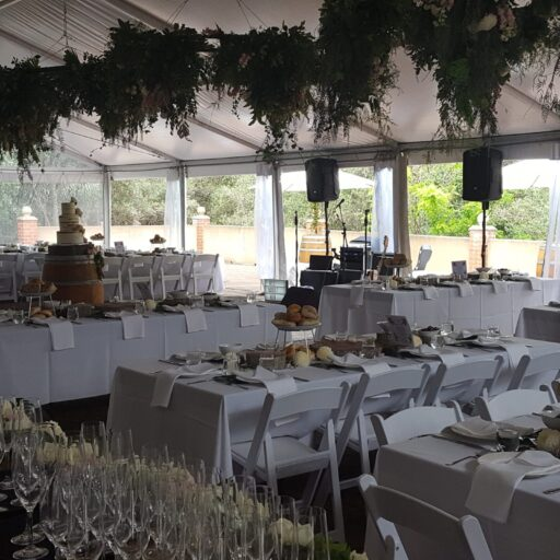 10m-x-21m-Pavilion-with-Americana-Chairs-Crockery-Cutlery-and-Table-Decor