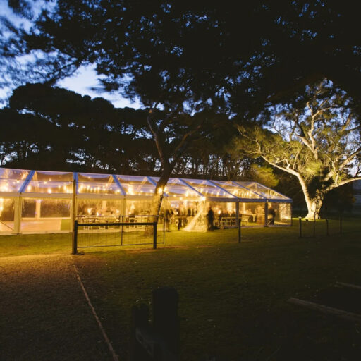10m-x-24m-clear-pavilion-with-festoon-lights-for-a-wedding