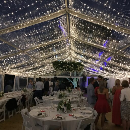 Harndorf-Wedding-Bubblewrap-Events-10m-x-21m-Clear-Pavilion-with-Bud-Lighting