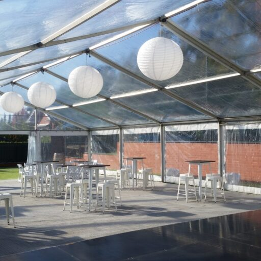 10m-x-18m-clear-pavilion-with-white-tolix-furniture-and-rice-paper-shades