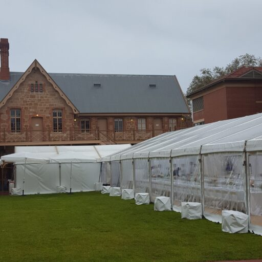 10m-x-24m-Clear-Pavilion-at-armoury-lawns-with-6m-x-9m-solid-white-vinyle-catering-pavilion