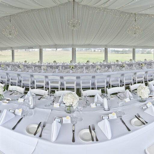 10m-x-30m-Pavilion-with-White-Linen-Americana-Chairs-Crockery-Cultery-and-Glassware