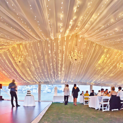 Roof-Lining-with-Lighting-and-black-ply-dance-floor