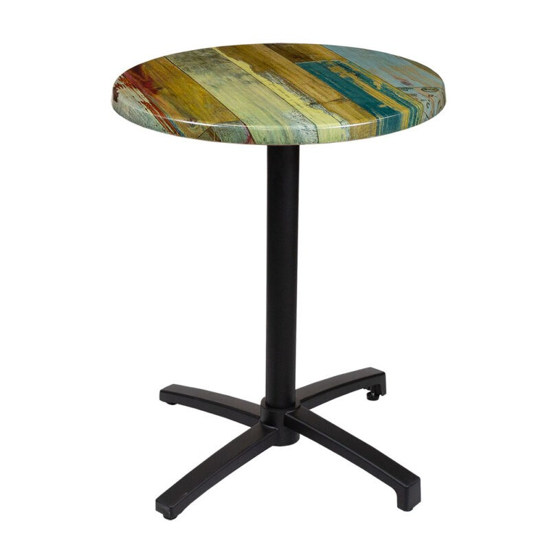 reclaimed-timber-top-high-bar-table-round-with-hints-of-blues-and-reds