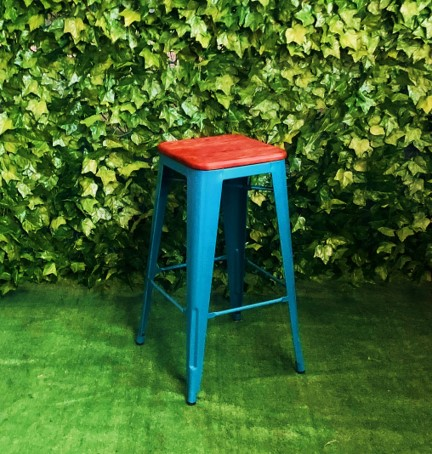 square-timber-top-blue-metal-frame-76cm-high-bar-stool