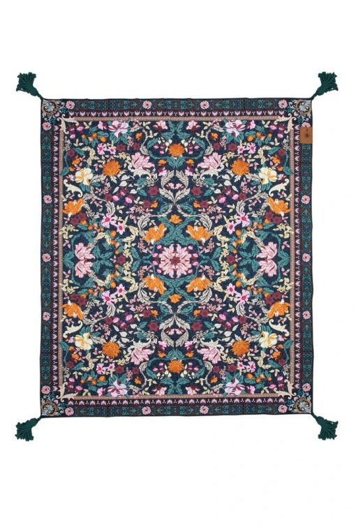 Emerald Green Forest Picnic Rug