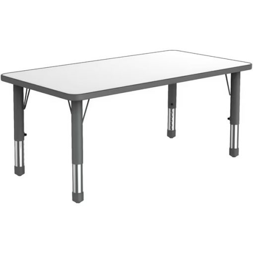 rectangular-plastic-kiddy-table-with-grey-adjustable-legs-and-white-surface-that-seats-six-children