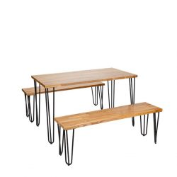 black-hairpin-bench-set-with-wooden-top-table-and-two-benches-all-on-black-legs